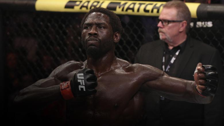 RIO DE JANEIRO, BRAZIL - MAY 11: Jared Cannonier celebrates after his victory over Anderson Silva of Brazil in their middleweight bout during the UFC 237 event at Jeunesse Arena on May 11, 2019 in Rio De Janeiro, Brazil. (Photo by Buda Mendes/Zuffa LLC/Zuffa LLC via Getty Images)