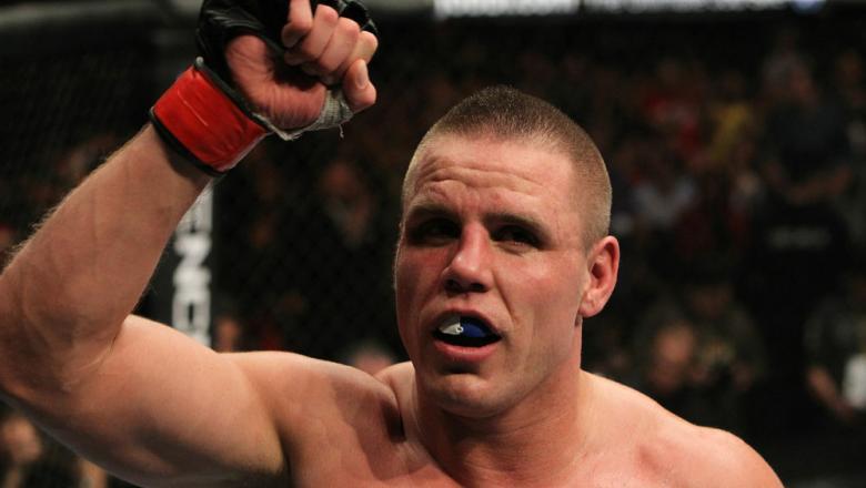 UFC 124: Bongfeldt reacts to his win.