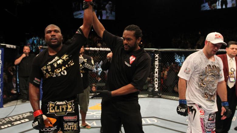 UFC 130: Rampage Jackson celebrates his win