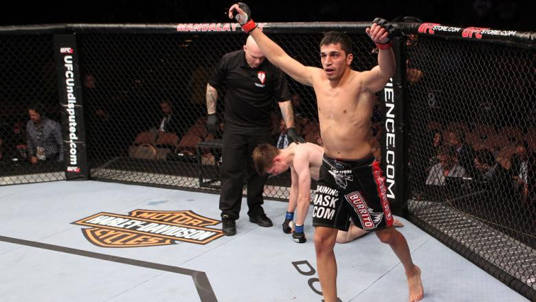 Ramsey Nijem after he submits Dan Downes