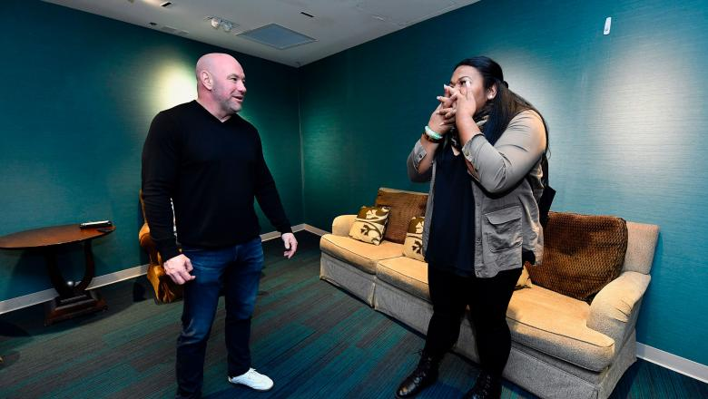 Summer Tapasa meets Dana White