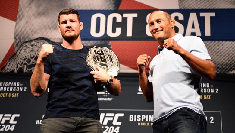 Michael Bisping e Dan Henderson se  enfrentam na luta principal do UFC 204, no próximo sábado (8), em Manchester, na Inglaterra