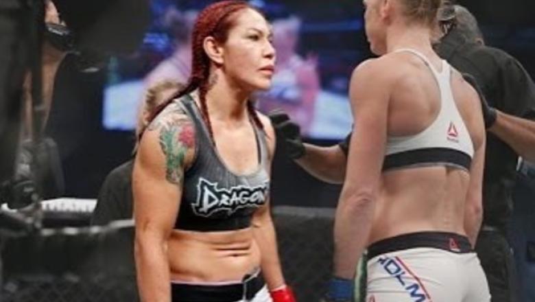 Cris Cyborg encara Holly Holm em montagem feita pela lutadora brasileira em suas redes sociais