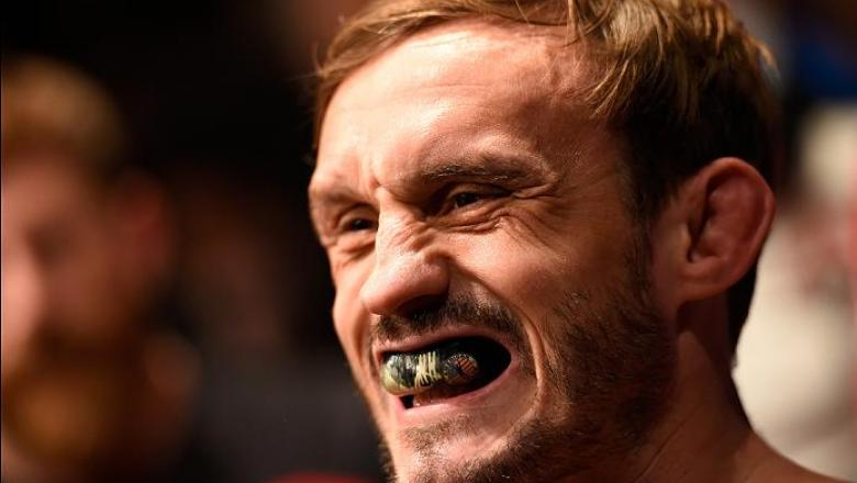 MANCHESTER, ENGLAND - OCTOBER 08:  Brad Pickett of England prepares to enter the Octagon before facing Iuri Alcantara of Brazil in their bantamweight bout during the UFC 204 Fight Night at the Manchester Evening News Arena on October 8, 2016 in Manchester