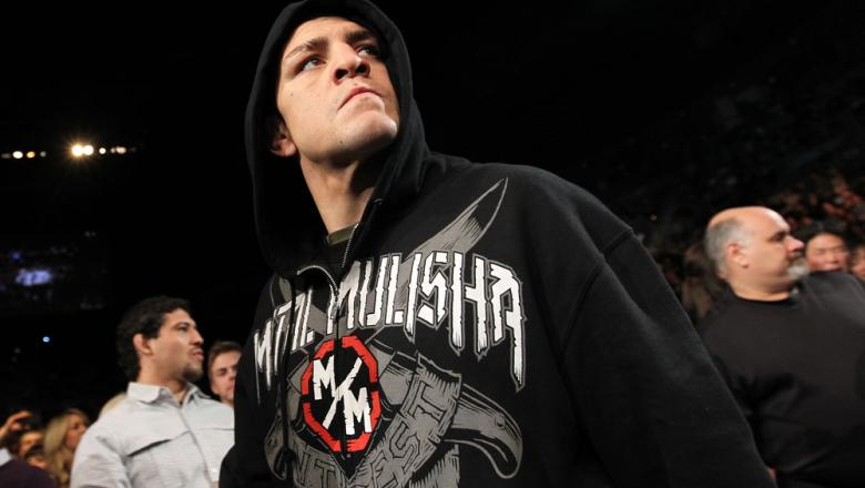 LAS VEGAS - FEBRUARY 04:  Nick Diaz makes his way to the Octagon for his fight with Carlos Condit during the UFC 143 event at Mandalay Bay Events Center on February 4, 2012 in Las Vegas, Nevada.  (Photo by Nick Laham/Zuffa LLC/Zuffa LLC via Getty Images)