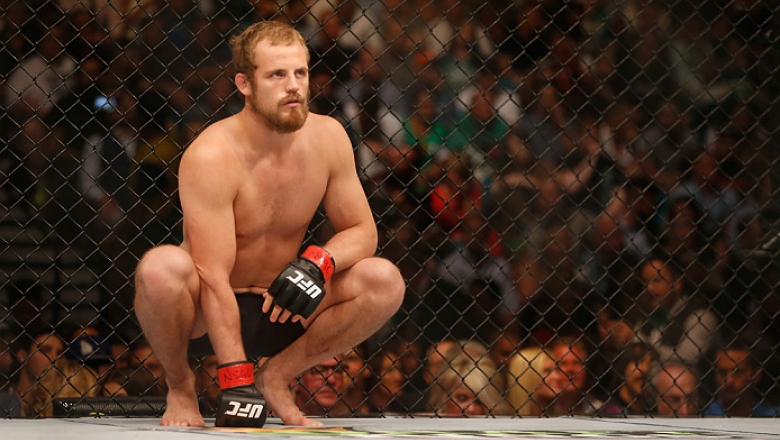 LAS VEGAS, NV - JULY 11:  Gunnar Nelson prepares to face Brandon Thatch in their welterweight fight during the UFC 189 event inside MGM Grand Garden Arena on July 11, 2015 in Las Vegas, Nevada.  (Photo by Christian Petersen/Zuffa LLC/Zuffa LLC via Getty I