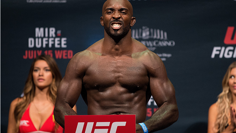 SAN DIEGO, CA - JULY 14:  Kevin Casey steps on the scale during the UFC weigh-in at the Valley View Casino Center on July 14, 2015 in San Diego, California. (Photo by Jeff Bottari/Zuffa LLC/Zuffa LLC via Getty Images)