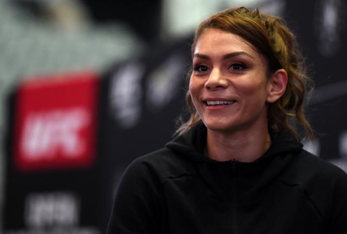 DALLAS, TX - SEPTEMBER 05:   Nicco Montano works out for fans and media during the UFC 228 open workouts on September 5, 2018 in Dallas, Texas. (Photo by Josh Hedges/Zuffa LLC via Getty Images)