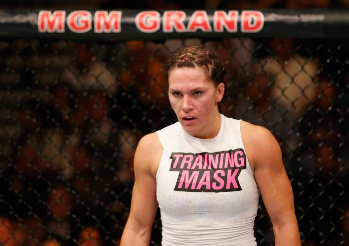 Cat Zingano during the UFC 178 event inside the MGM Grand Garden Arena on September 27, 2014 in Las Vegas, Nevada.