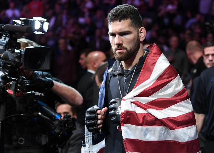 NEW YORK, NY - NOVEMBER 03:  Chris Weidman prepares to fight Ronaldo Souza of Brazil in their middleweight bout during the UFC 230 event inside Madison Square Garden on November 3, 2018 in New York, New York. (Photo by Jeff Bottari/Zuffa LLC via Getty Images)