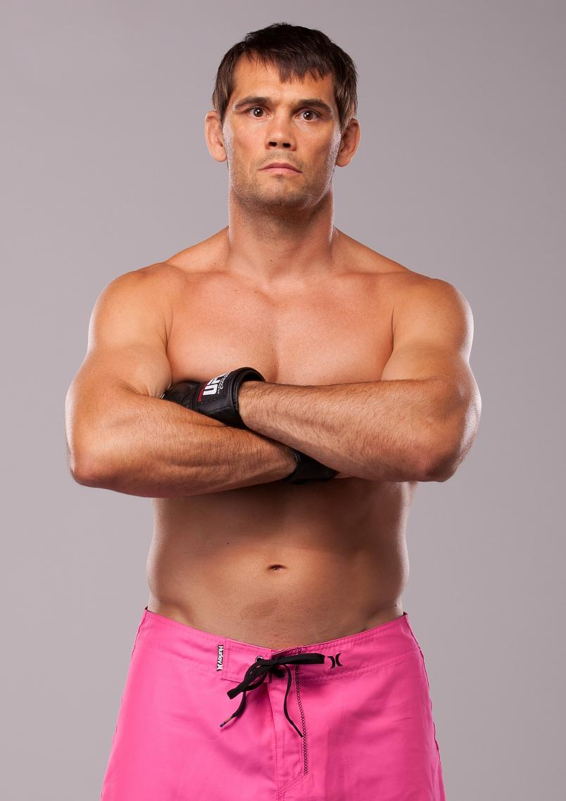 LAS VEGAS, NV - JULY 09: Rich Franklin poses for a portrait on July 9, 2012 in Las Vegas, Nevada. (Photo by Jim Kemper/Zuffa LLC/Zuffa LLC via Getty Images)