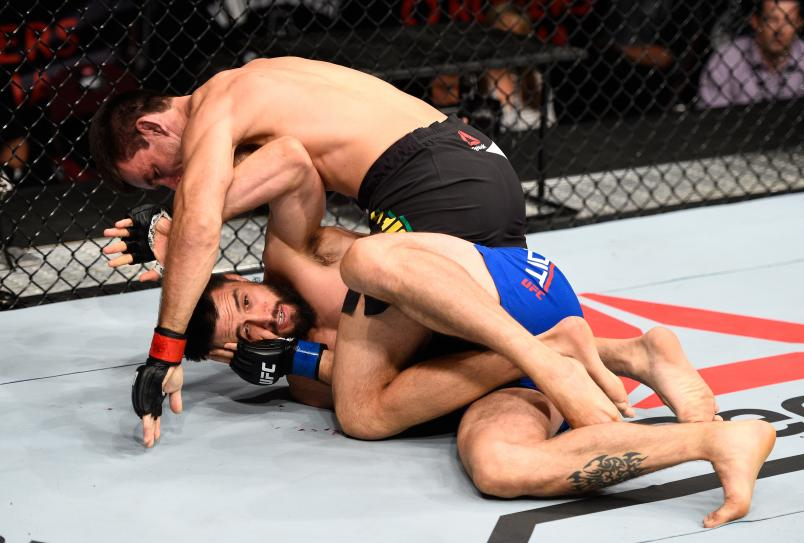 VANCOUVER, BC - AUGUST 27: Demian Maia of Brazil (top) controls the body of Carlos Condit of the United States in their welterweight bout during the UFC Fight Night event at Rogers Arena on August 27, 2016 in Vancouver, British Columbia, Canada. (Photo by Jeff Bottari/Zuffa LLC/Zuffa LLC via Getty Images)