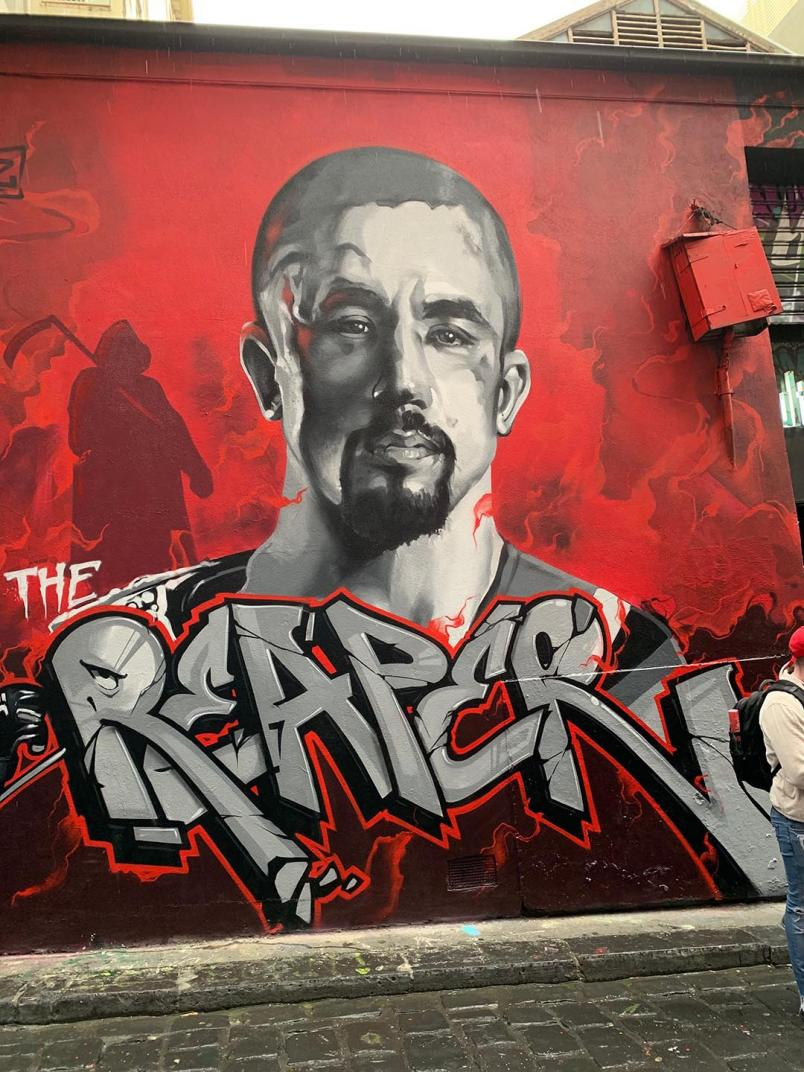 Mural of Robert Whittaker Outside Culture Kings, Melbourne.