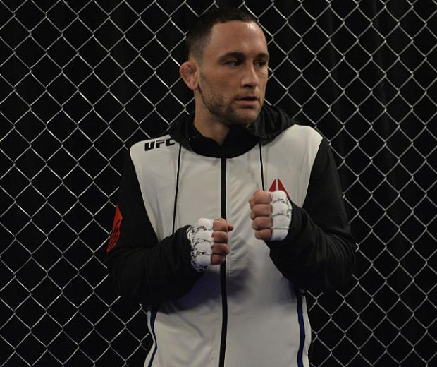 LAS VEGAS, NV - DECEMBER 11: Frankie Edgar warms up backstage during the TUF Finale event inside The Chelsea at The Cosmopolitan of Las Vegas on December 11, 2015 in Las Vegas, Nevada.  (Photo by Brandon Magnus/Zuffa LLC/Zuffa LLC via Getty Images)