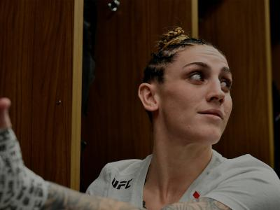 CHICAGO, ILLINOIS - JUNE 09:  Megan Anderson of Australia gets her hands wrapped backstage during the UFC 225 event at the United Center on June 9, 2018 in Chicago, Illinois. (Photo by Mike Roach/Zuffa LLC/Zuffa LLC via Getty Images)