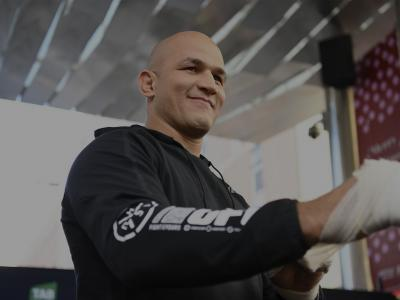 ADELAIDE, AUSTRALIA - NOVEMBER 28: Junior Dos Santos of Brazil performs an open workout for fans and media during the UFC Fight Night Open Workouts event at Gawler Place Canopy - Rundle Mall on November 28, 2018 in Adelaide, Australia. (Photo by Jeff Bottari/Zuffa LLC/Zuffa LLC via Getty Images)