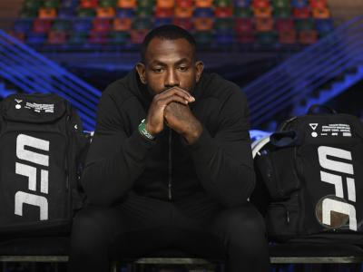 BUENOS AIRES, ARGENTINA - NOVEMBER 16: Khalil Rountree Jr. waits backstage during the UFC Fight Night weigh-in event inside Arena Parque Rosa on November 16, 2018 in Buenos Aires, Argentina. (Photo by Mike Roach/Zuffa LLC/Zuffa LLC via Getty Images)