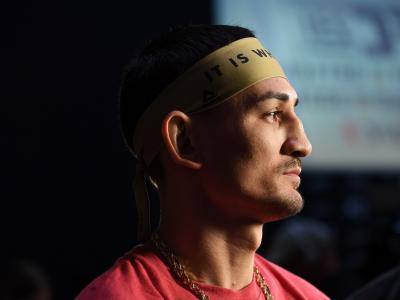 TORONTO, CANADA - DECEMBER 07: Max Holloway looks on during the UFC 231 weigh-in at Scotiabank Arena on December 7, 2018 in Toronto, Canada. (Photo by Mike Roach/Zuffa LLC/Zuffa LLC via Getty Images)