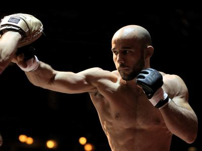 Marlon Moraes of Brazil trains during UFC 238 Cejudo v Moraes: Open Workouts at Chicago Theatre on June 05, 2019 in Chicago, Illinois. (Photo by Dylan Buell/Zuffa LLC)
