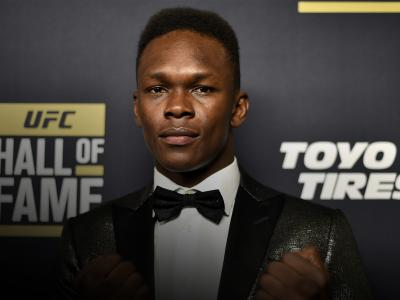 LAS VEGAS, NEVADA - JULY 05: Israel Adesanya poses on the red carpet prior to the UFC Hall of Fame Class of 2019 Induction Ceremony inside The Pearl at The Palms Casino Resort on July 5, 2019 in Las Vegas, Nevada. (Photo by Chris Unger/Zuffa LLC/Zuffa LLC via Getty Images)