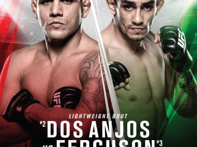 UFC Fight Night: Rafael Dos Anjos vs Tony Ferguson event poster