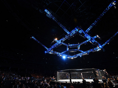 GLASGOW, SCOTLAND - JULY 18:  A general view of the Octagon during the UFC Fight Night event inside the SSE Hydro on July 18, 2015 in Glasgow, Scotland.  (Photo by Josh Hedges/Zuffa LLC/Zuffa LLC via Getty Images)