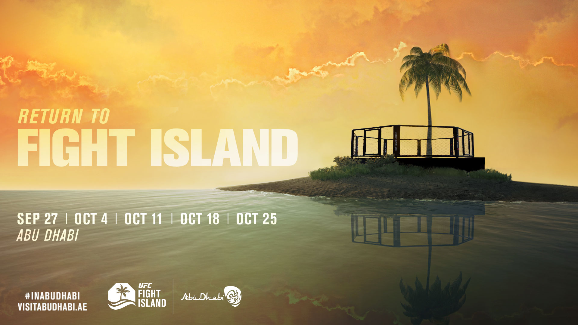UFC Return to Fight Island Image with Tropical Trees