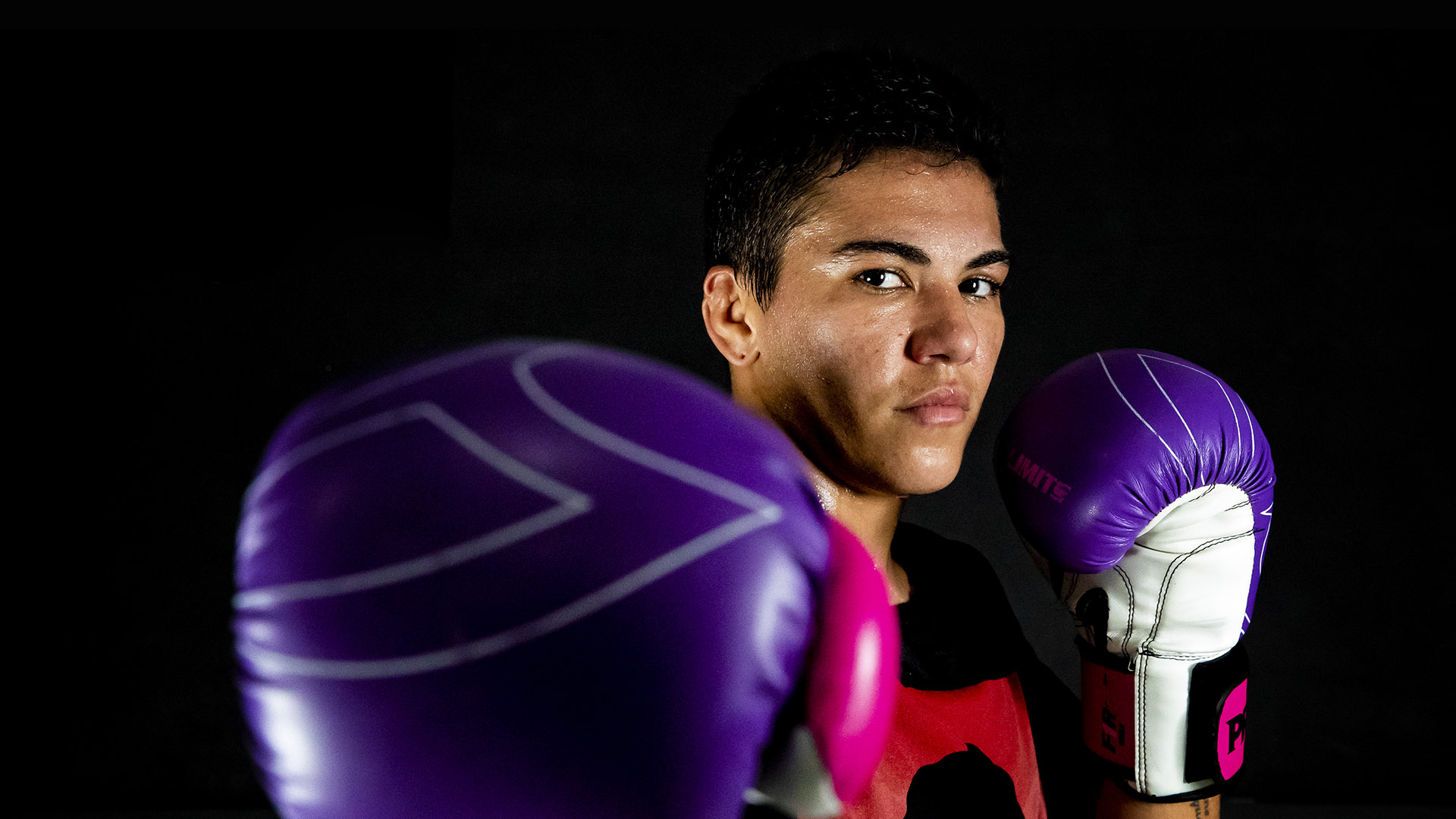 """Jessica Andrade """"Bate Estaca"""" of PRTV team poses for a photo during a training session amidst the coronavirus (COVID-19) pandemic at PRVT - Parana Vale Tudo gym on August 7, 2020 in Niteroi, Brazil. Andrade competes in the strawweight division and is the first Brazilian woman to fight for the UFC, currently #2 in the UFC women's strawweight rankings. (Photo by Buda Mendes/Getty Images)"""