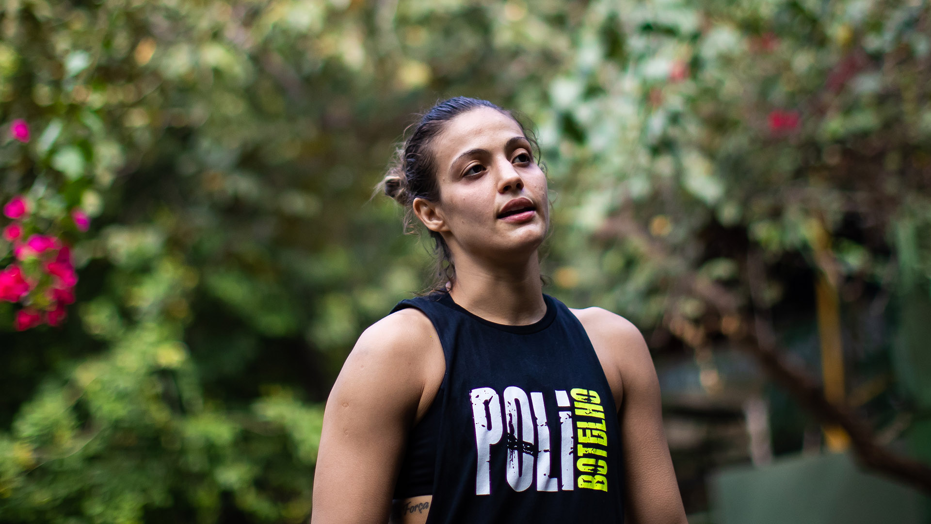 Brazilian MMA athlete Poliana Botelho poses for a photo after a training session amidst the coronavirus (COVID-19) pandemic at Arena Upper on August 19, 2020 in Rio de Janeiro, Brazil. UFC strawweight Poliana Botelho, 31, weighs 52 kilos and has a history of 10 fights, eight victories, six by knockouts, two by judge decision and only two defeats. Botelho currently holds the record for the fastest victory. (Photo by Buda Mendes/Getty Images)