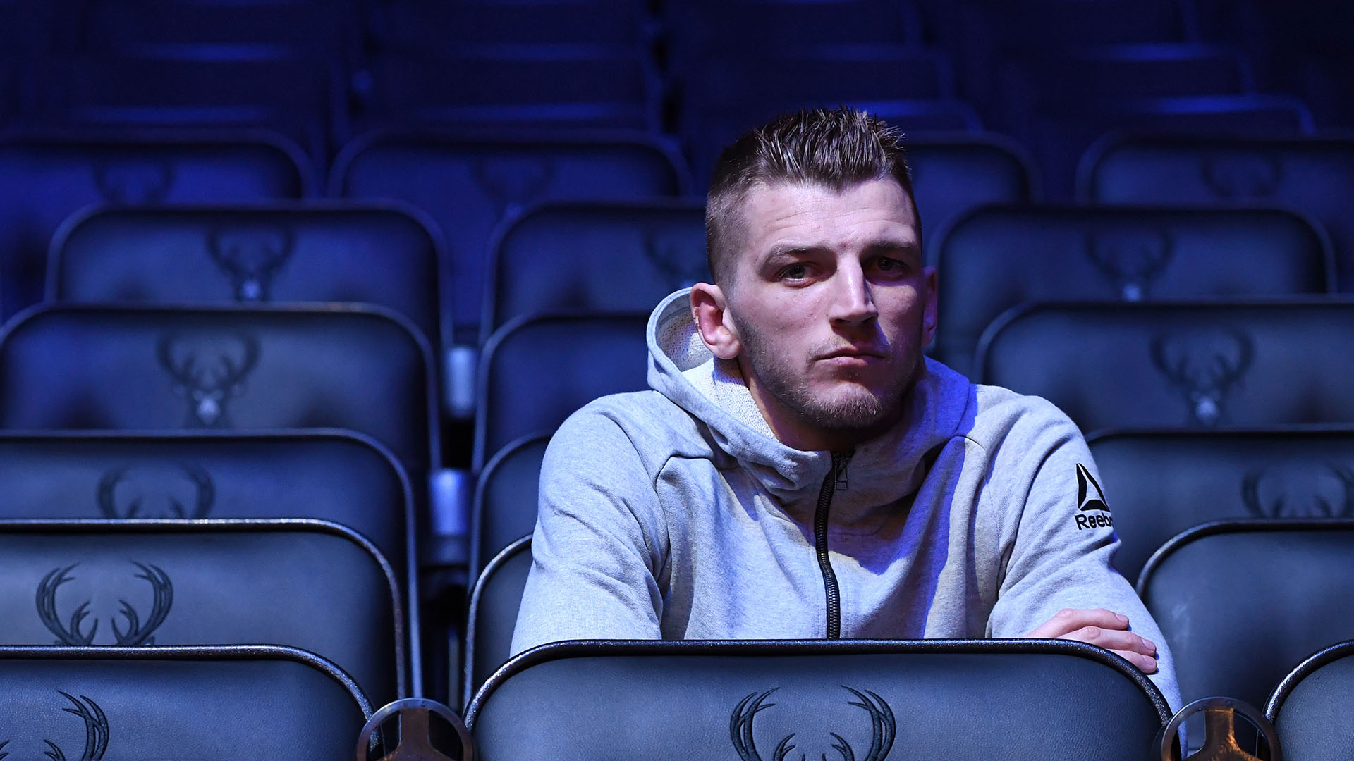 Dan Hooker waits backstage during the UFC Fight Night weigh-in at Fiserv Forum on December 14, 2018 in Milwaukee, Wisconsin. (Photo by Mike Roach/Zuffa LLC)