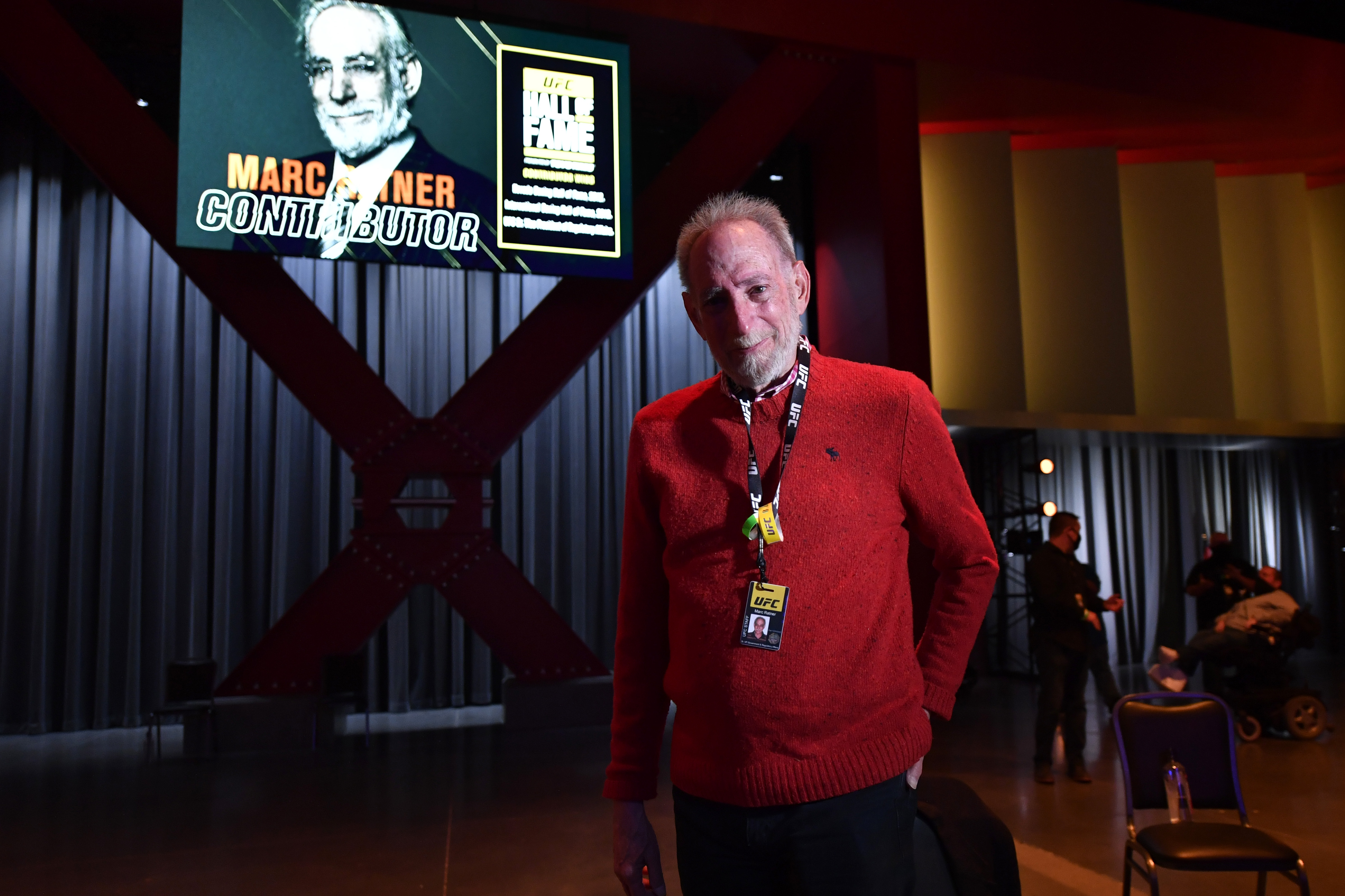 UFC Vice President of Regulatory Affairs Marc Ratner looks on after being announced as a newly elected member of the UFC Hall of Fame during the UFC 255 event at UFC APEX on November 21, 2020 in Las Vegas, Nevada. (Photo by Jeff Bottari/Zuffa LLC)