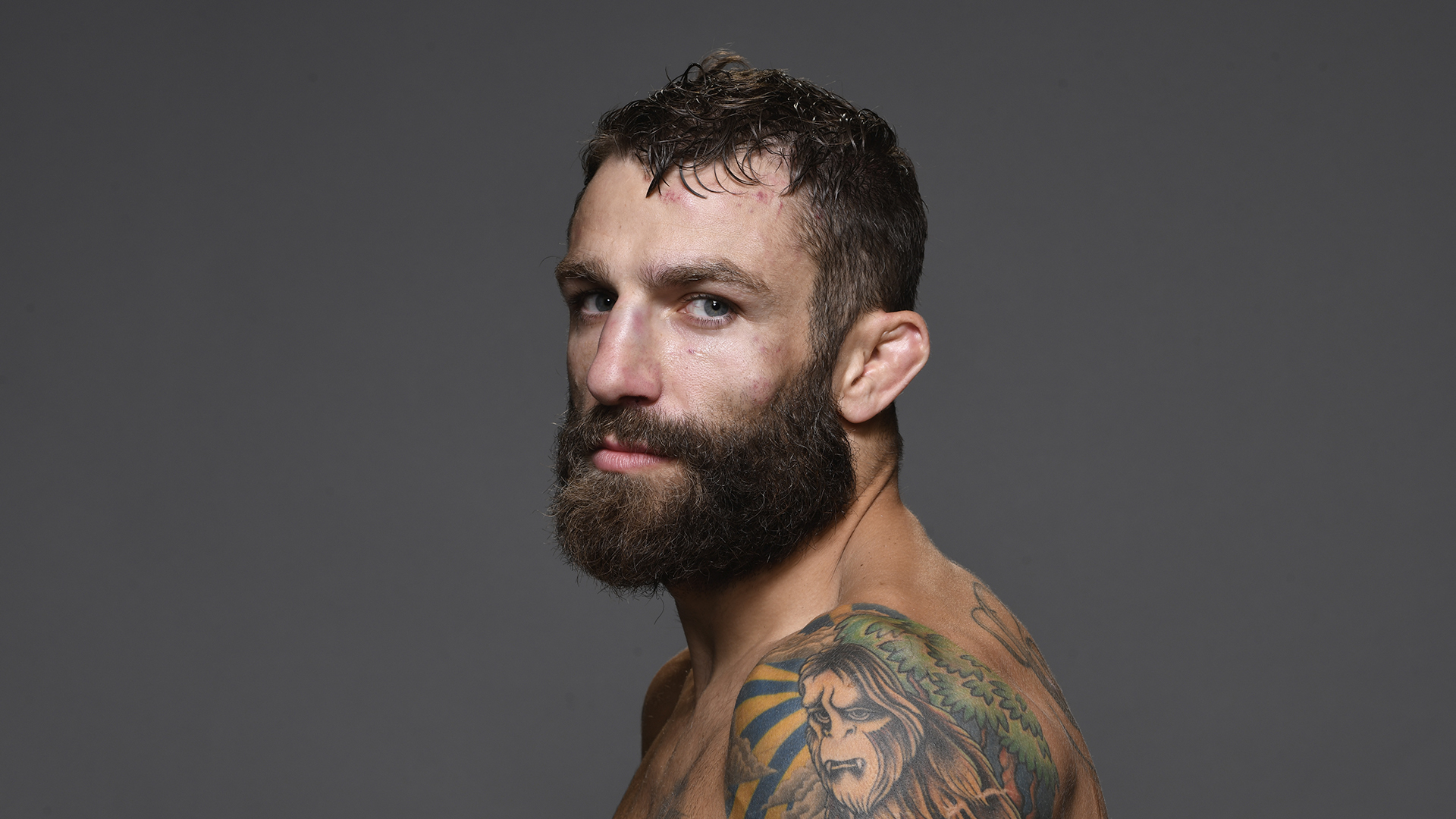 Michael Chiesa poses for a portrait during the UFC 239 event at T-Mobile Arena on July 6, 2019 in Las Vegas, Nevada. (Photo by Mike Roach/Zuffa LLC)