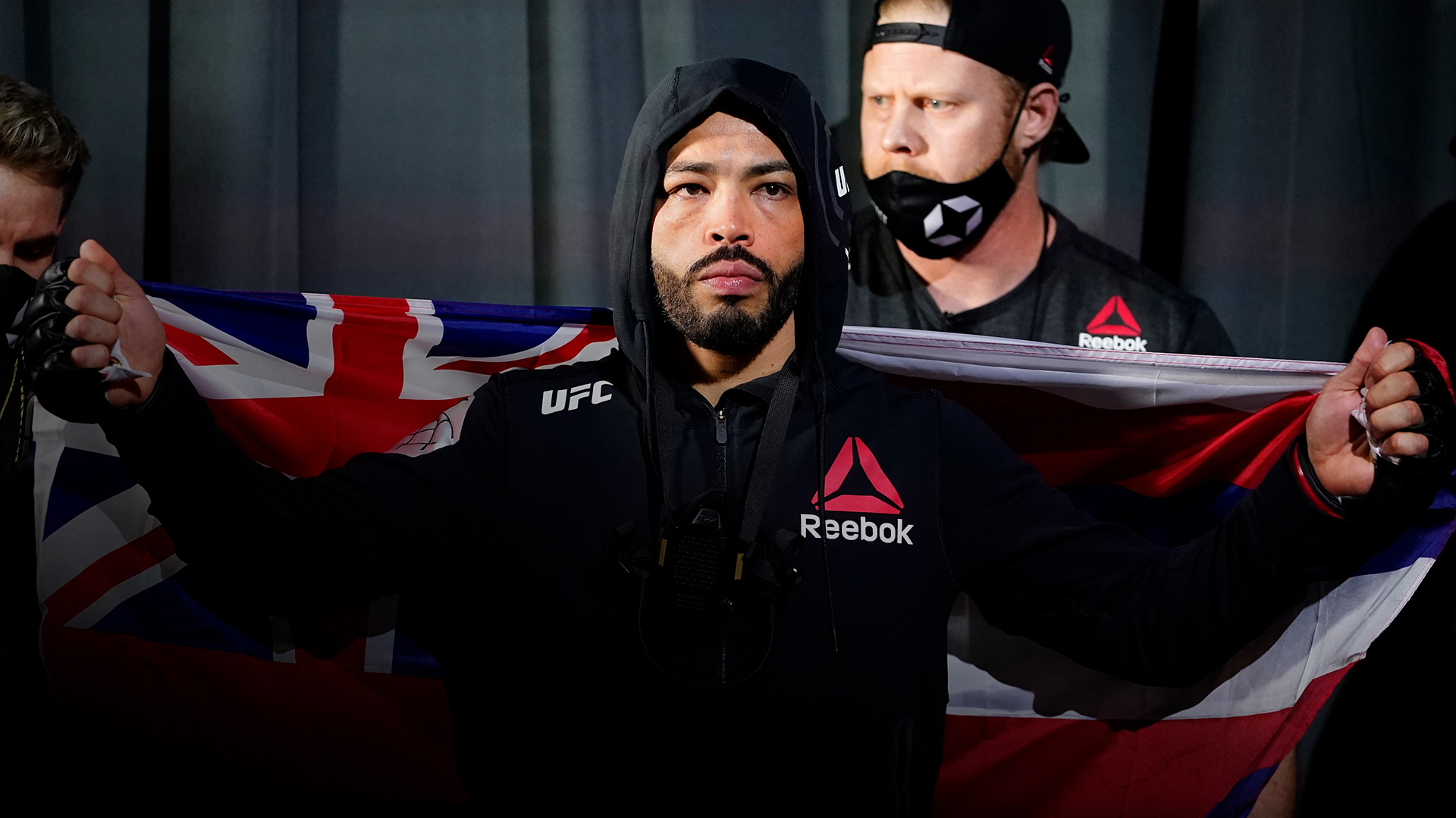 Dan Ige prepares to fight Gavin Tucker in a featherweight fight during the UFC Fight Night event at UFC APEX on March 13, 2021 in Las Vegas, Nevada. (Photo by Jeff Bottari/Zuffa LLC via Getty Images)