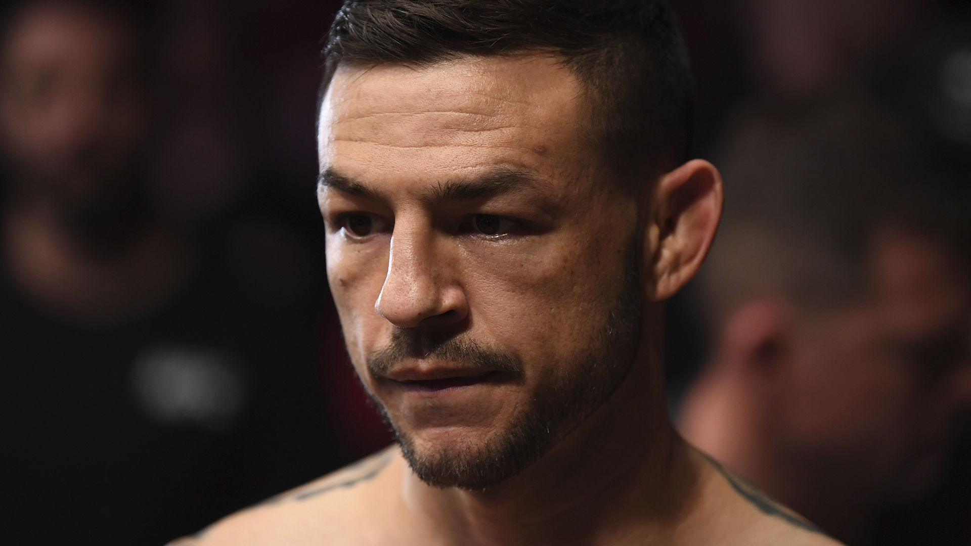 Cub Swanson prepares to enter the Octagon prior to his featherweight bout against Shane Burgos during the UFC Fight Night event at Canadian Tire Centre on May 4, 2019 in Ottawa, Ontario, Canada. (Photo by Jeff Bottari/Zuffa LLC)