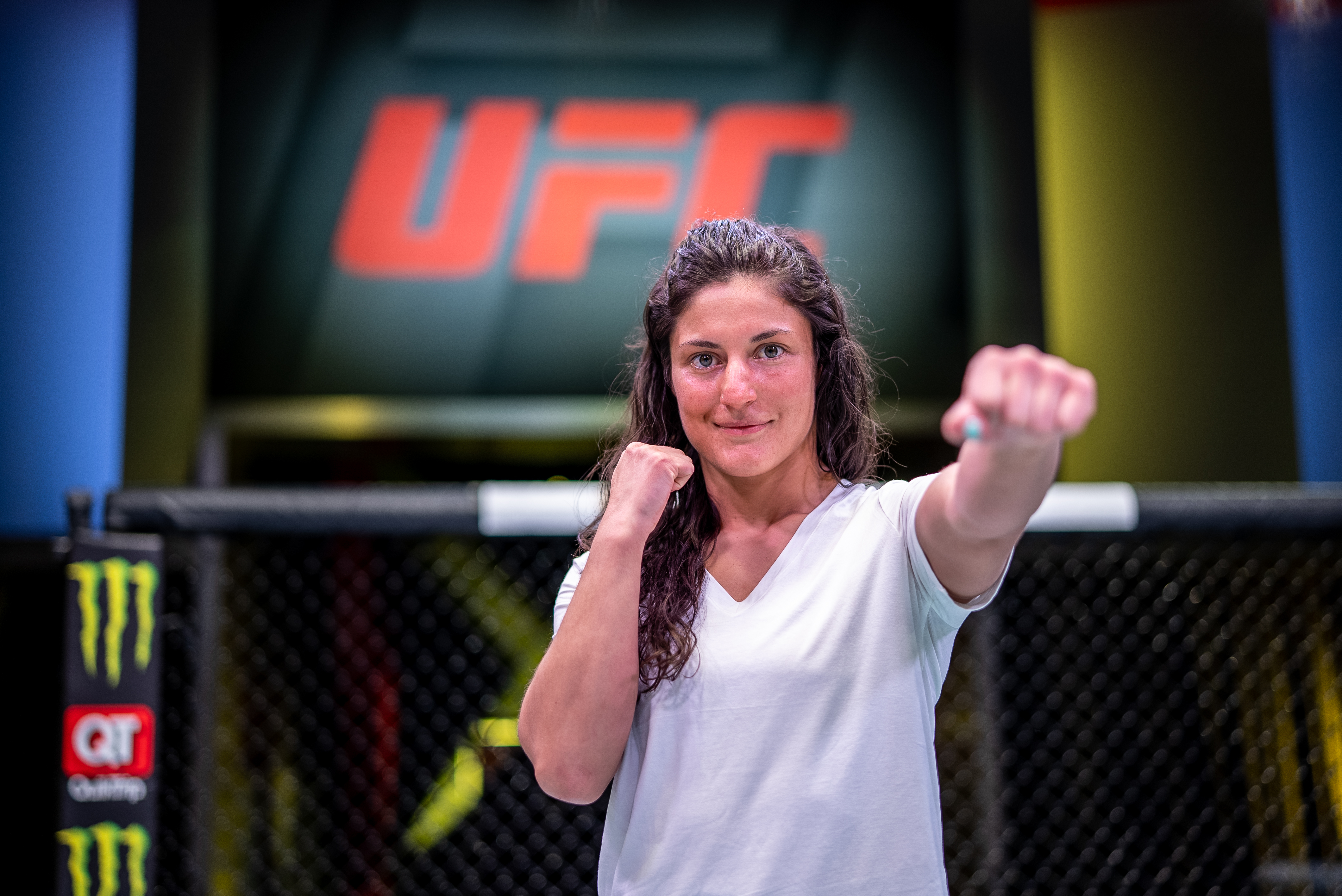 Lupita Godinez at the UFC Apex, April 2021 (Photo by Nolan Walker/Zuffa LLC)