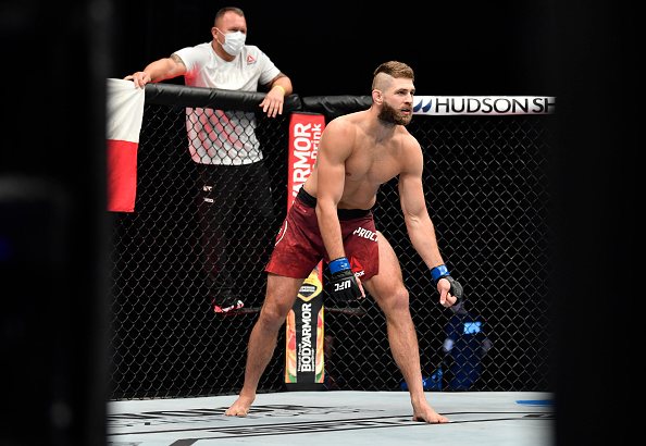 Jiri Prochazka of the Czech Republic prepares to fight Volkan Oezdemir in their light heavyweight fight during the UFC 251 event at Flash Forum on UFC Fight Island on July 12, 2020 on Yas Island, Abu Dhabi, United Arab Emirates. (Photo by Jeff Bottari/Zuffa LLC)