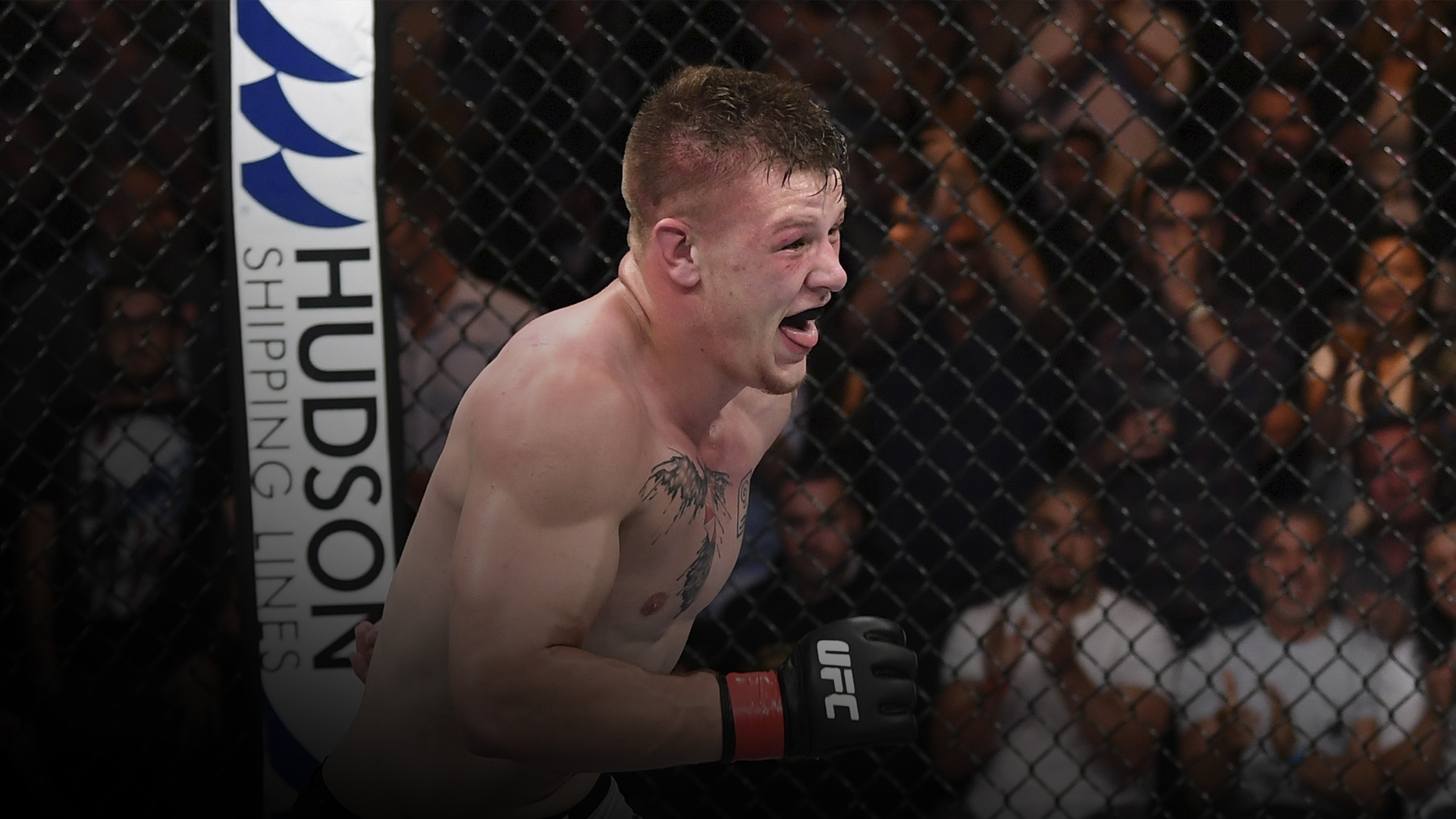 Jimmy Crute of Australia celebrates after his submission victory over Paul Craig of Scotland in their light heavyweight bout during the UFC Fight Night event inside Adelaide Entertainment Centre on December 2, 2018 in Adelaide, Australia. (Photo by J.jpg