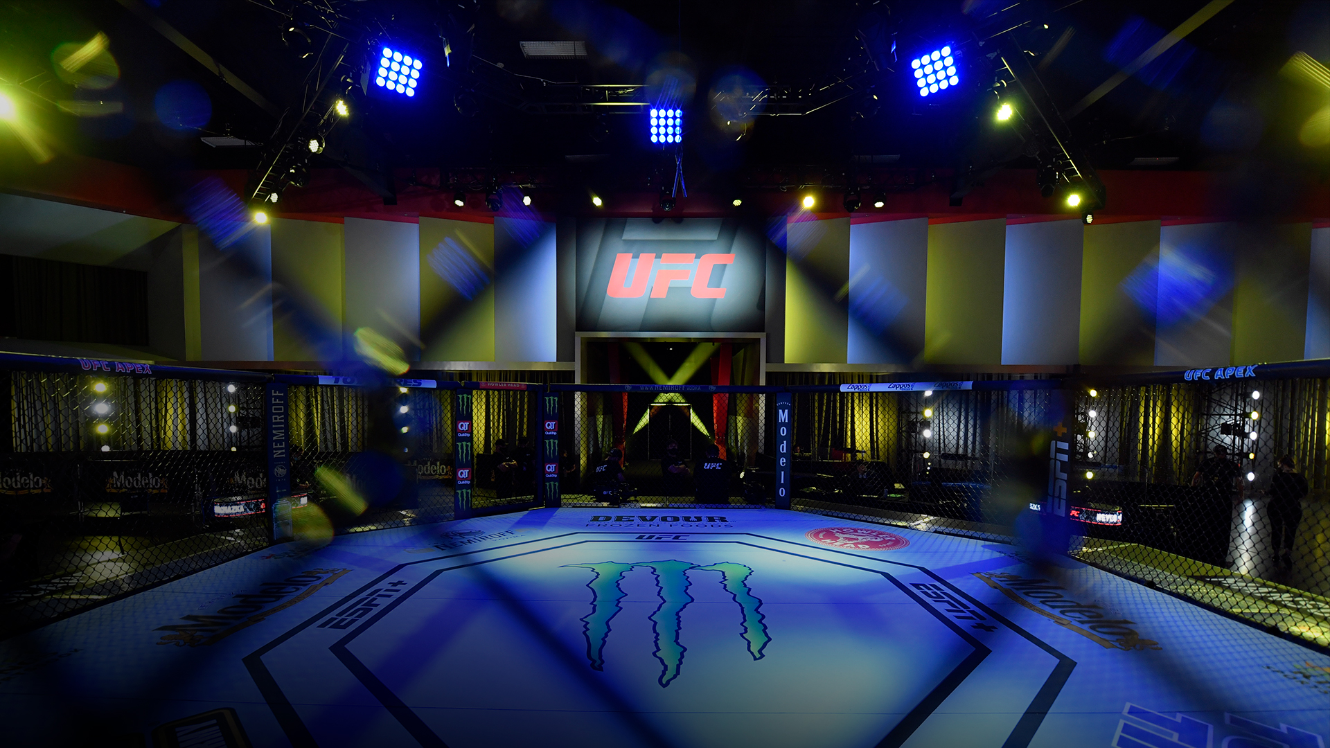 A general view of the Octagon prior to the UFC Fight Night event at UFC APEX on May 01, 2021 in Las Vegas, Nevada. (Photo by Jeff Bottari/Zuffa LLC)