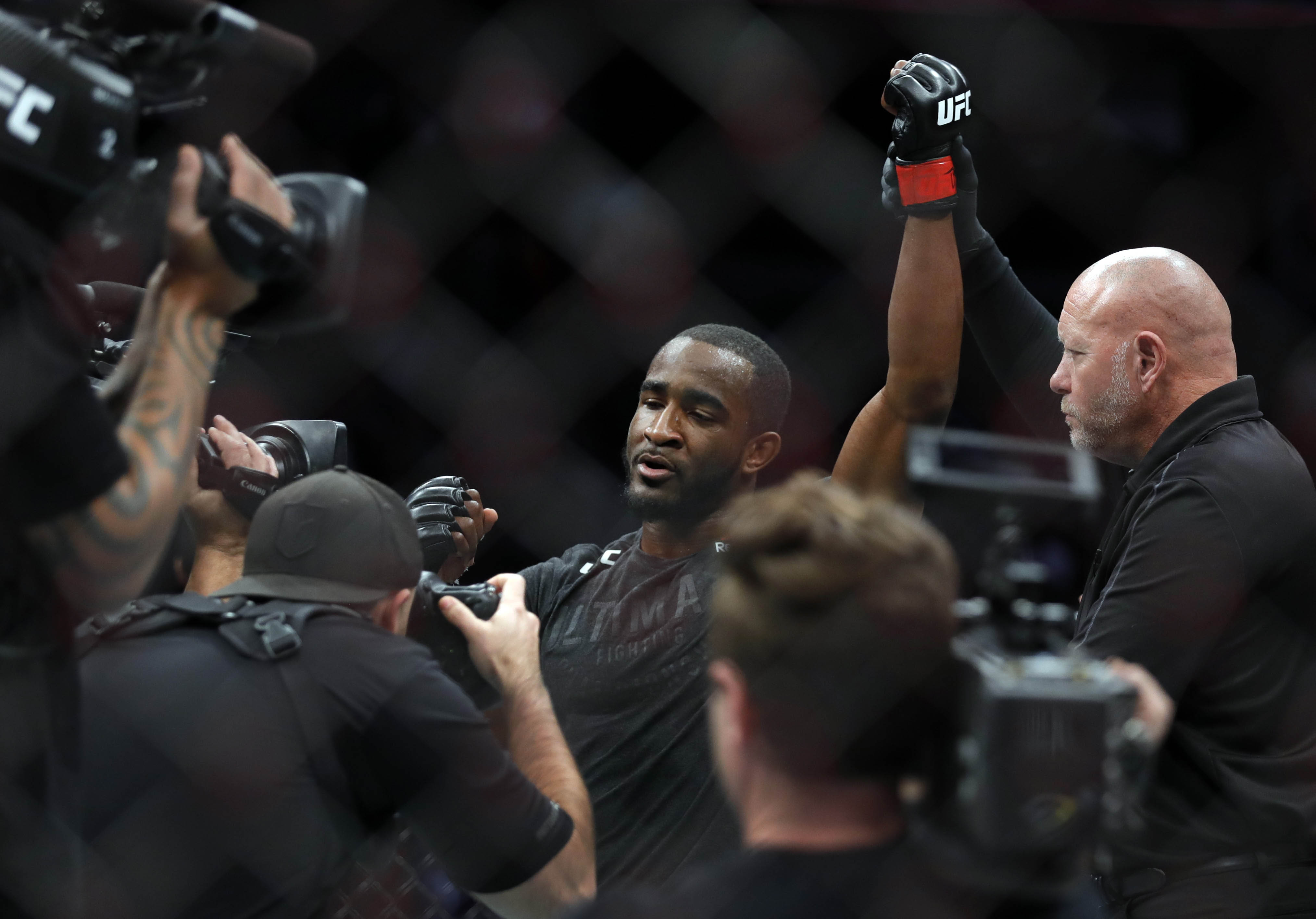 Geoff Neal poses after defeating Mike Perry in a welterweight fight during UFC 245 at T-Mobile Arena on December 14, 2019 in Las Vegas, Nevada. Neal won the fight with a first-round TKO. (Photo by Steve Marcus/Getty Images)