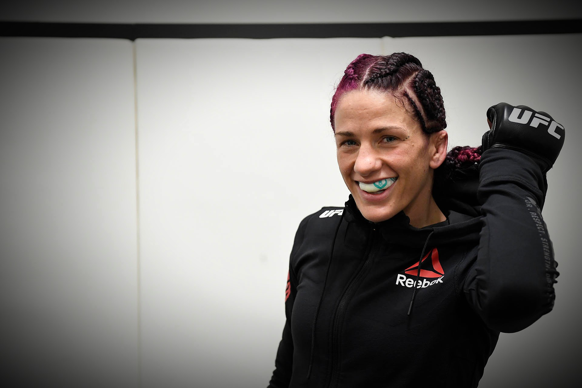Gina Mazany warms up backstage during the UFC Fight Night at UFC APEX on November 28, 2020 in Las Vegas, Nevada. (Photo by Mike Roach/Zuffa LLC)