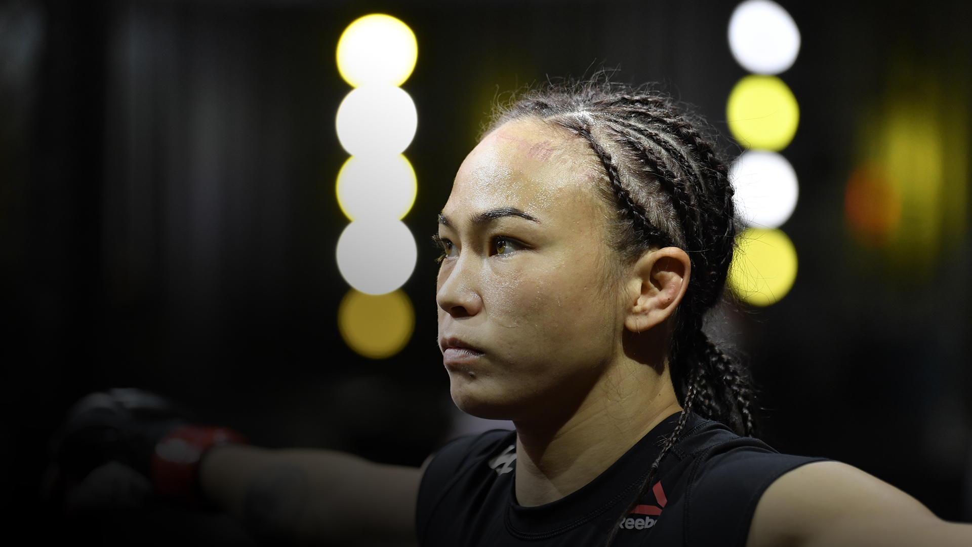Michelle Waterson prepares to fight Angela Hill in a strawweight fight during the UFC Fight Night event at UFC APEX on September 12, 2020 in Las Vegas, Nevada. (Photo by Jeff Bottari/Zuffa LLC)