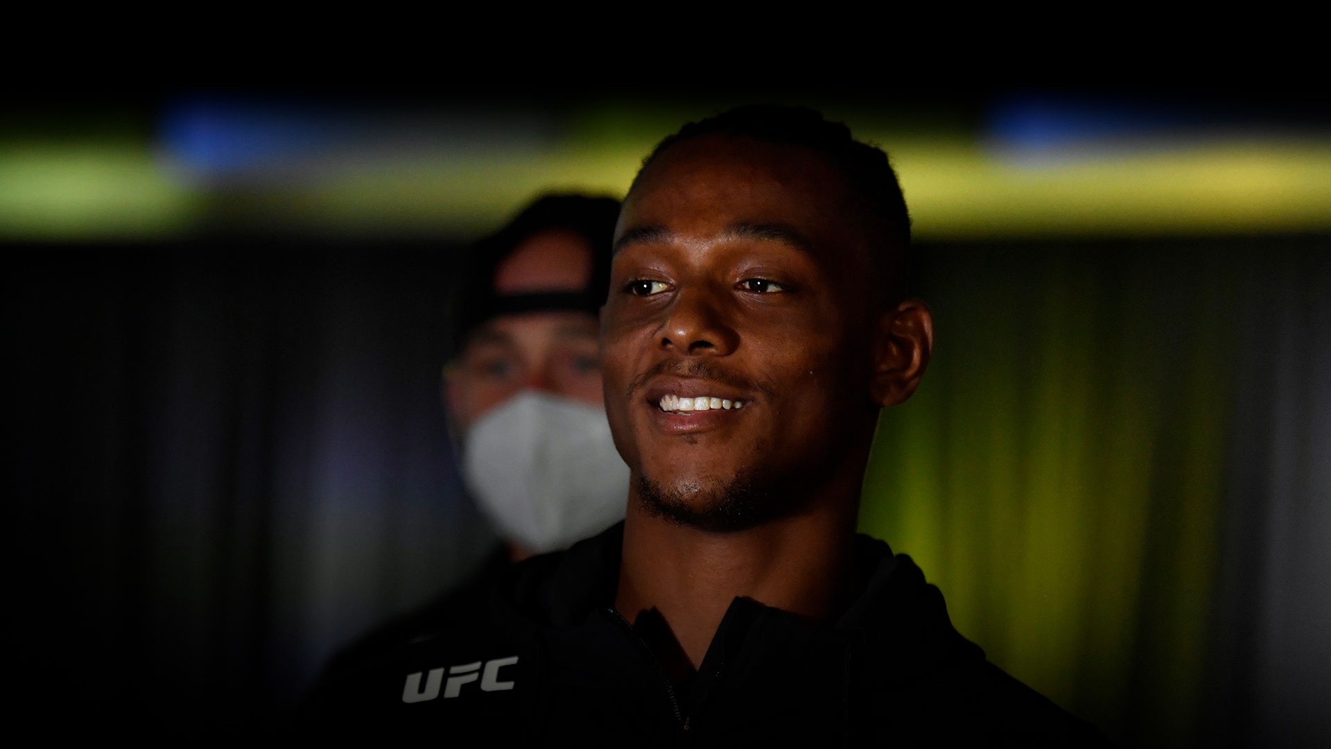 Jamahal Hill prepares to fight Klidson Abreu of Brazil in their light heavyweight fight during the UFC Fight Night event at UFC APEX on May 30, 2020 in Las Vegas, Nevada. (Photo by Jeff Bottari/Zuffa LLC)