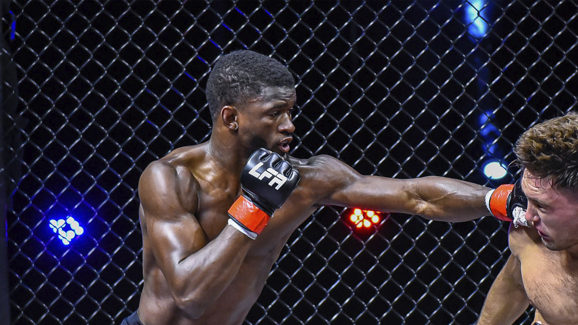 Edwin Cooper Jr. throws a punch during a fight in LFA (photo courtesy of LFA)