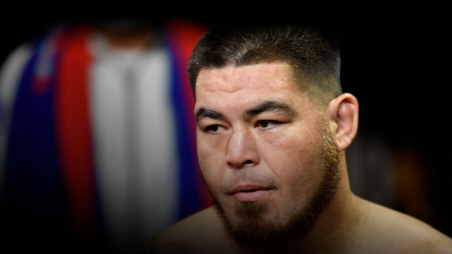 Roque Martinez of Guam prepares to fight Don'Tale Mayes in a heavyweight fight during the UFC Fight Night event at UFC APEX on November 14, 2020 in Las Vegas, Nevada. (Photo by Jeff Bottari/Zuffa LLC)