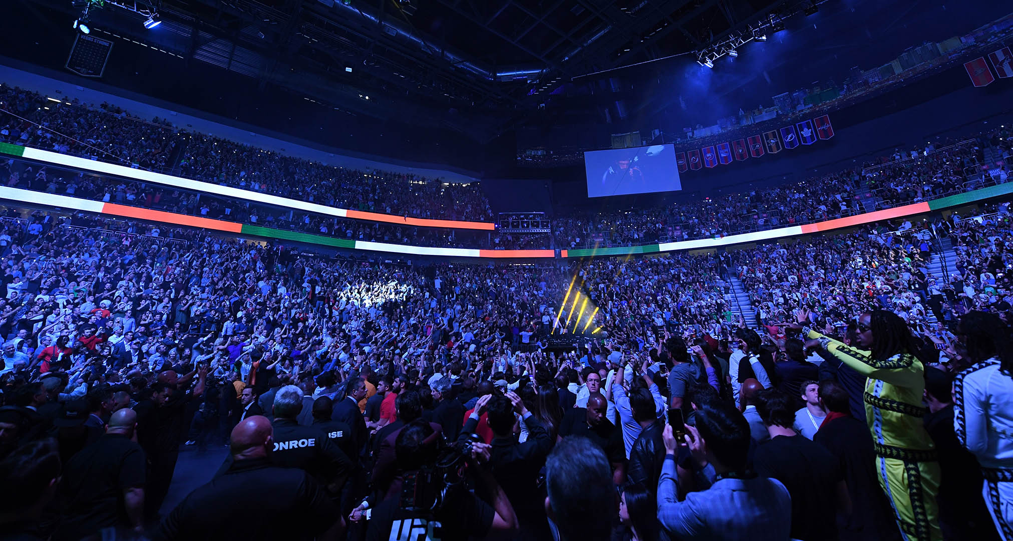A general view of the crowd during the UFC 229 event inside T-Mobile Arena on October 6, 2018 in Las Vegas, Nevada. (Photo by Josh Hedges/Zuffa LLC/Zuffa LLC)