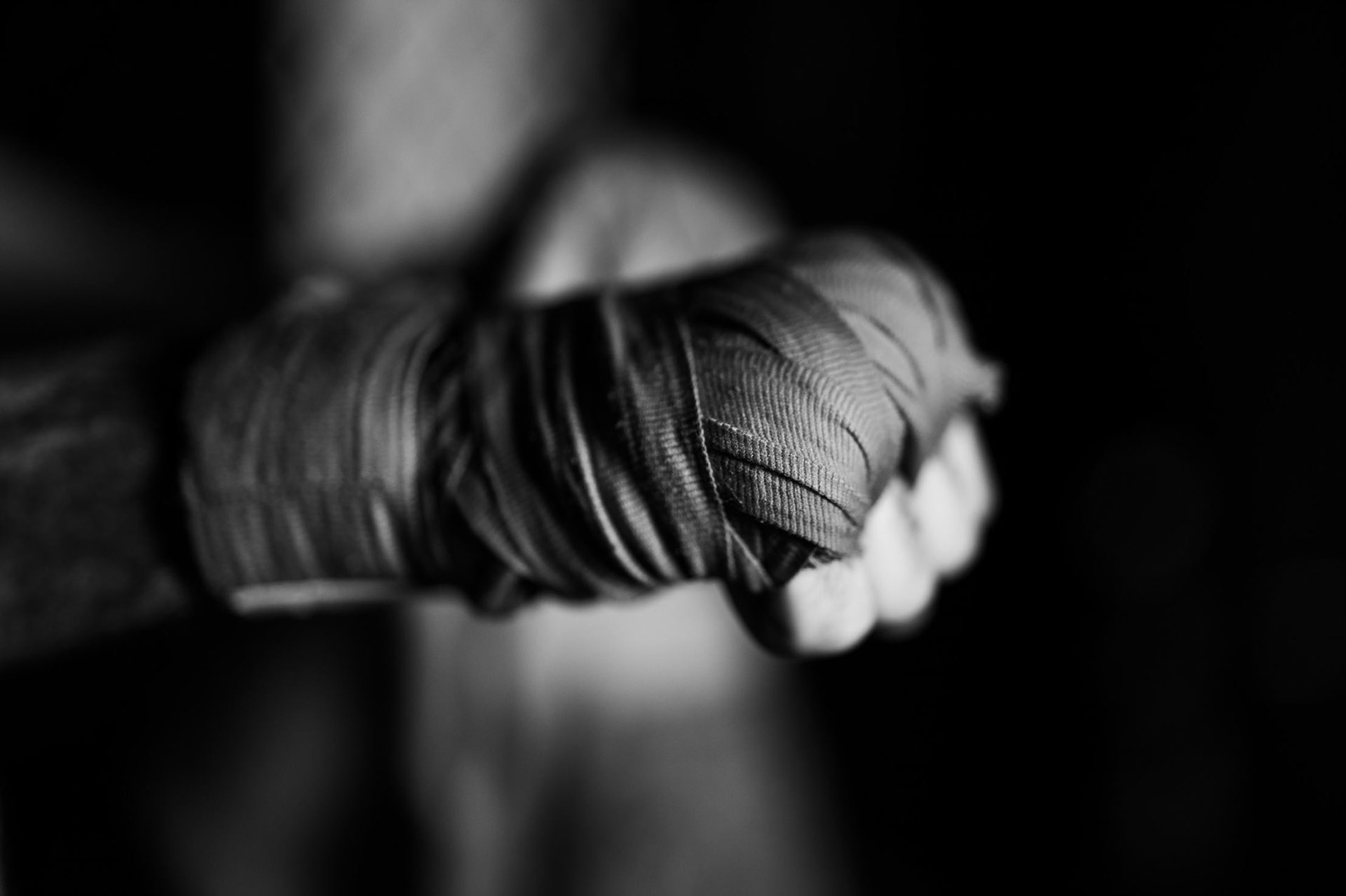 Portrait of a hand being wrapped for Dana White's Contender Series