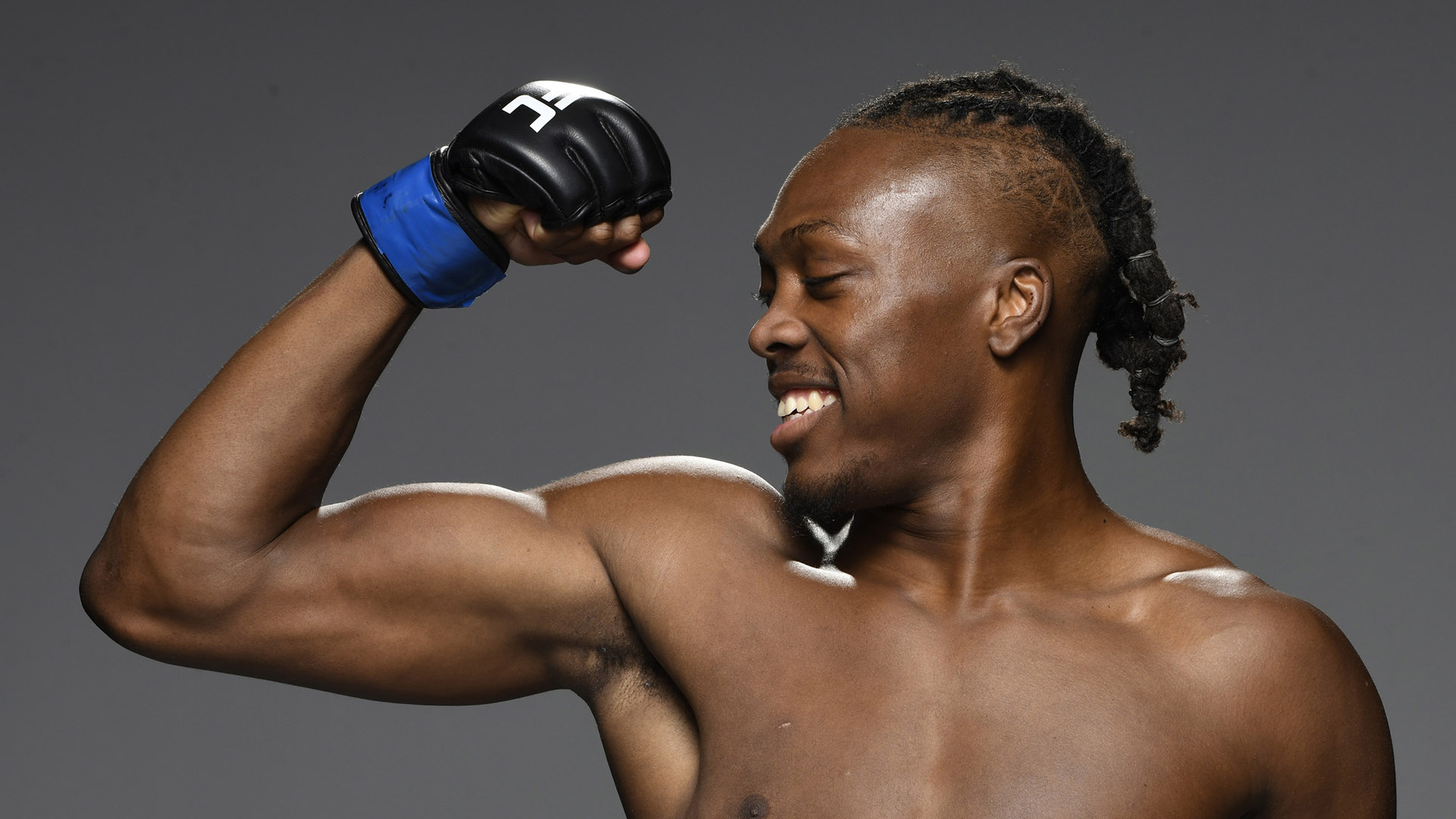 : Jalin Turner poses for a portrait after his victory during the UFC Fight Night event at UFC APEX on September 12, 2020 in Las Vegas, Nevada. (Photo by Mike Roach/Zuffa LLC)
