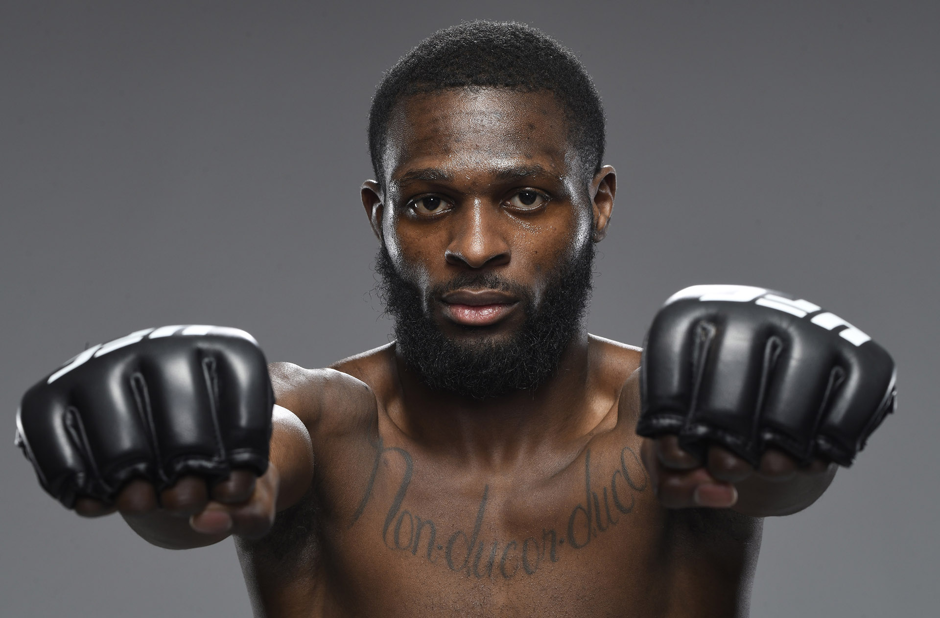 Montel Jackson poses for a portrait after his victory during the UFC Fight Night event at UFC APEX on March 20, 2021 in Las Vegas, Nevada. (Photo by Mike Roach/Zuffa LLC)
