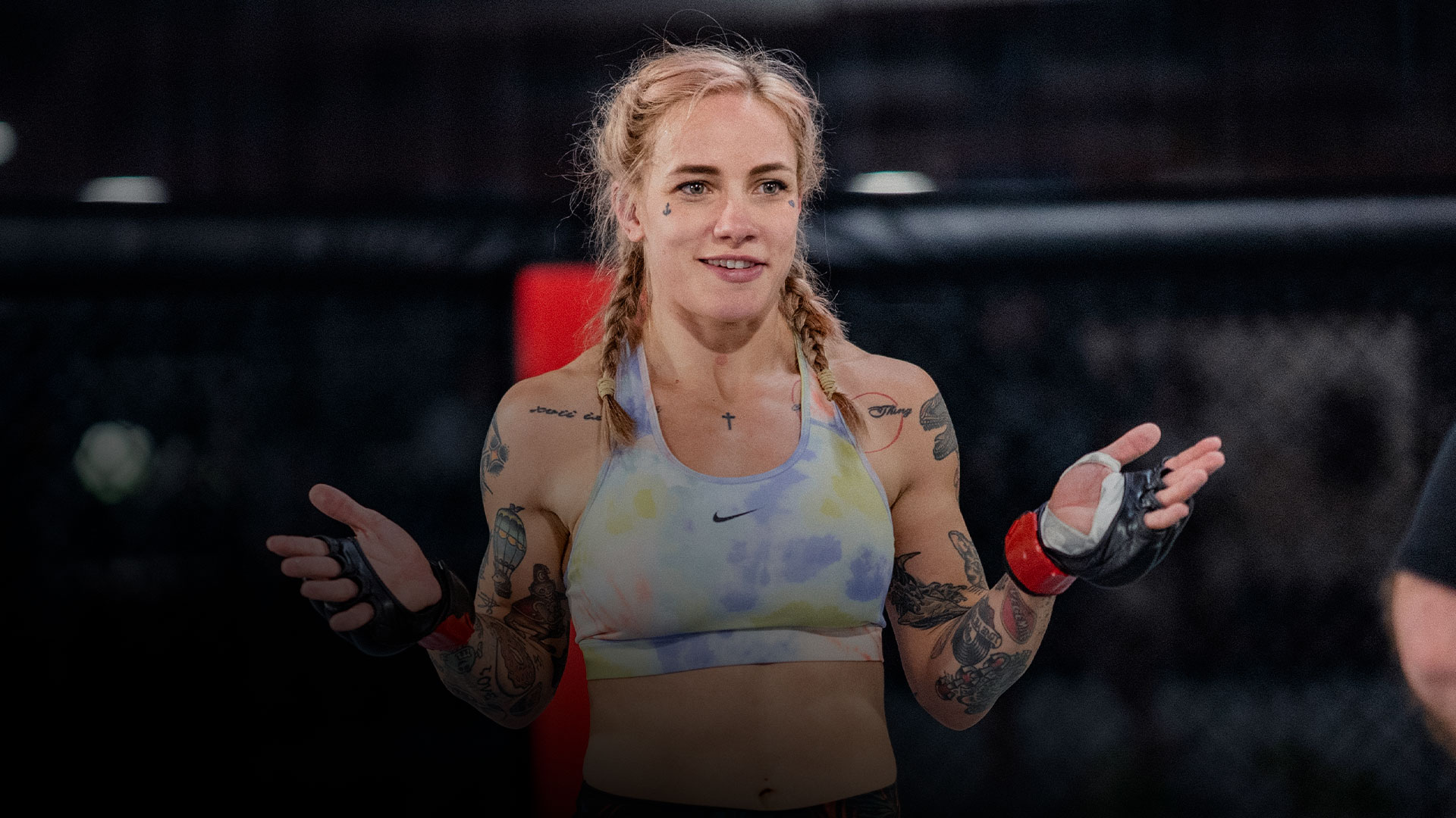 Jessica-Rose Clark trains at the UFC Performance Institute in Las Vegas, Nevada on October 20, 2021. (Photo by Zac Pacleb)
