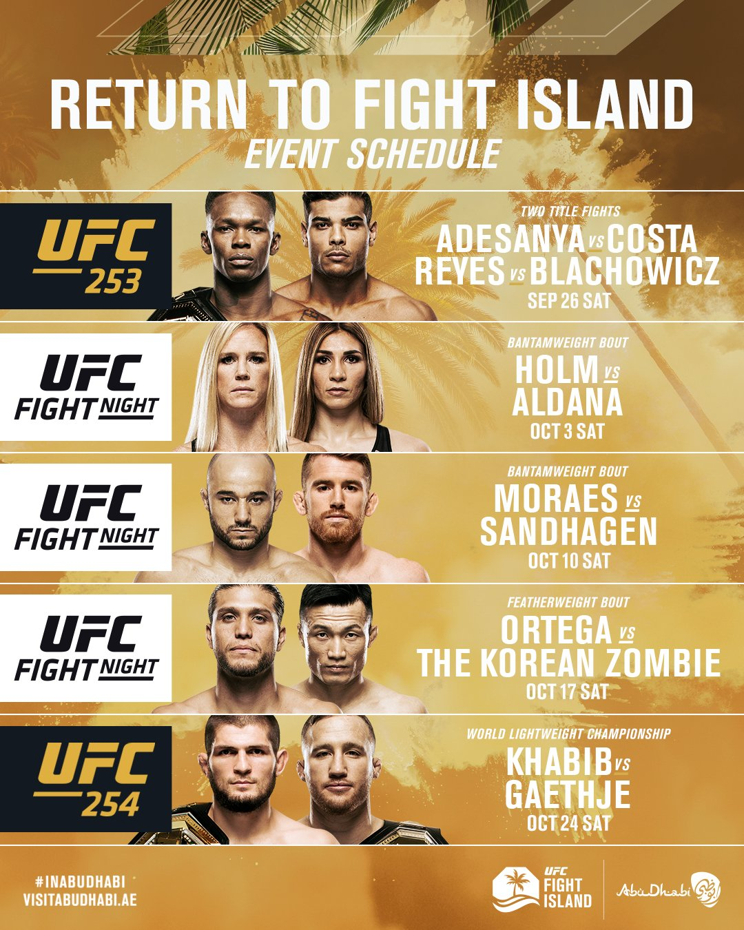 Ufc Fight Island Everything You Need To Know Ufc